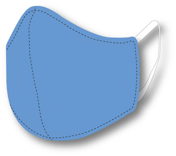 Top Quality Face Mask (Columbia Blue)