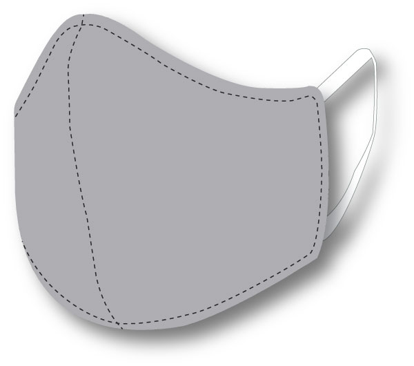 Top Quality Face Mask (Gray)
