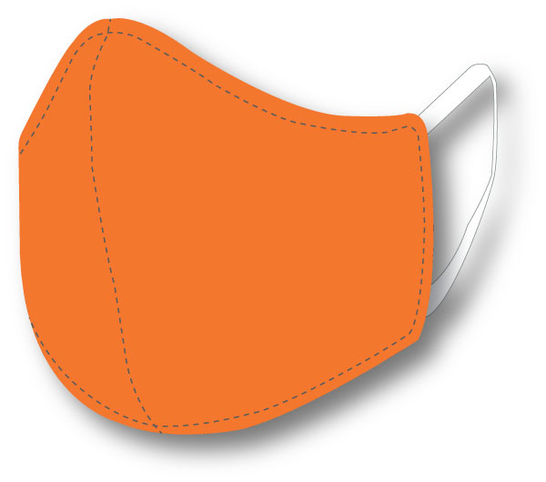 Top Quality Face Mask (Orange)